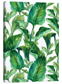 Toile  Tropical Leaves in Watercolor