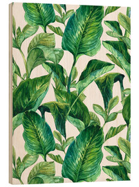 Bois  Tropical Leaves in Watercolor