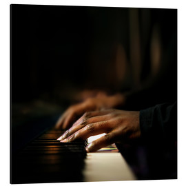 Alu-Dibond  Close-up of a pianist's hands playing the piano - Johan Swanepoel