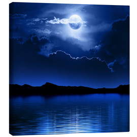 Toile  Fantasy moon and clouds over water - Johan Swanepoel