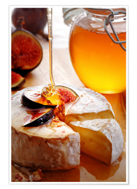 Poster  Brie Cheese and Figs with honey - Johan Swanepoel