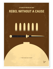 Poster  No318 My Rebel without a cause minimal movie poster - chungkong