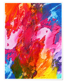 Poster  Abstraction colorée