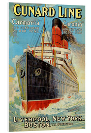 Tableau en PVC  Cunard Line - Edward Wright