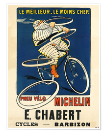Poster  Bicycle tires Michelin - H.L. Roowy
