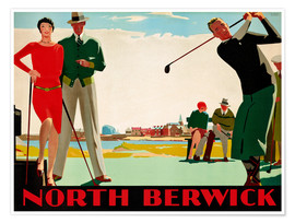 Poster  Club de golf North Berwick - Andrew Johnson