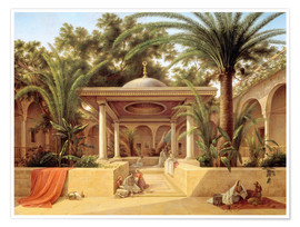 Poster  The Kabanija Fountain in Cairo - Grigory Tchernezov