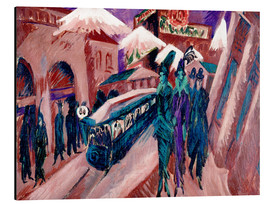 Tableau en aluminium  Leipziger Strasse with electric train - Ernst Ludwig Kirchner