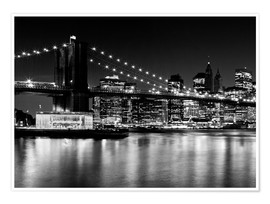 Poster NYC Night Skyline