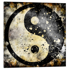 Verre acrylique  Ying Yang