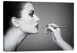 Tableau sur toile  At the make-up artist