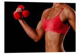 Forex  Fitness woman with dumbbells