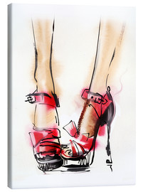 Toile  Red High Heels