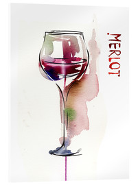 Verre acrylique  Glass of Merlot