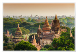 Poster  Temples of Bagan in Mandalay, Myanmar