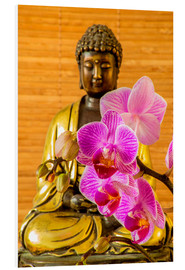 Forex  Buddha with orchid