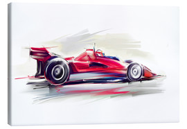 Toile  Red Race Car