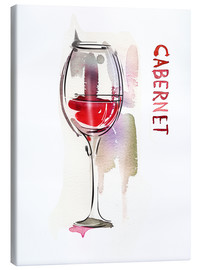 Toile  A glass of cabernet