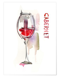 A glass of cabernet