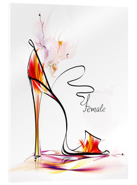 Verre acrylique  high heels