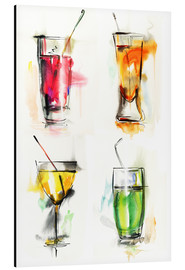 Alu-Dibond  Colorful drinks