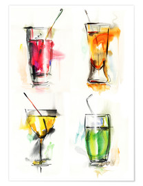 Poster  Cocktails colorés
