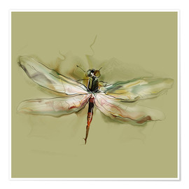 Dragonfly in watercolor