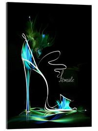 Verre acrylique  Blacklight High Heel