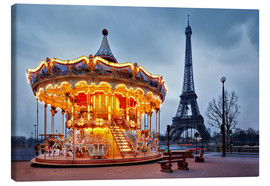 Tableau sur toile  Carousel at the Eiffel Tower