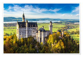 Poster  Neuschwanstein castle in summer