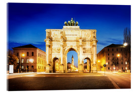 Verre acrylique  Victory Arch in Munich at night