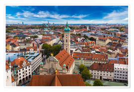 Poster Aerial view of Munich