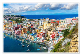 Poster  Procida island in Italy