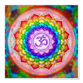 Poster  The Crown Chakra Series V - rainbow colors - Dirk Czarnota