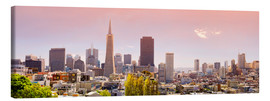 Tableau sur toile  San Francisco Skyline Red - Michael Rucker