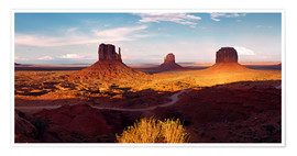 Poster Monument Valley light