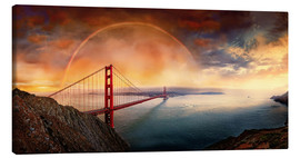 Tableau sur toile  Frisco Golden Gate Rainbow - Michael Rucker