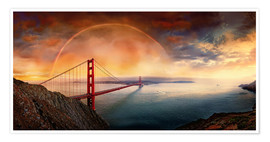 Poster  Frisco Golden Gate Rainbow - Michael Rucker