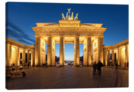 Toile  Brandenburg gate at dusk