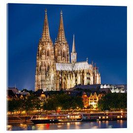 Verre acrylique  Night view of Cologne Cathedral