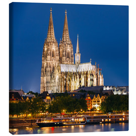 Tableau sur toile  Night view of Cologne Cathedral