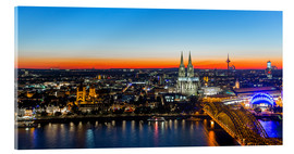 Verre acrylique  Colorful Cologne skyline at night