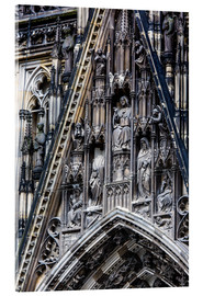 Tableau en verre acrylique  Facades detail at Cologne Cathedral