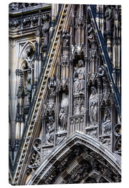 Tableau sur toile  Facades detail at Cologne Cathedral