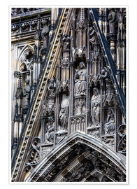 Poster  Facades detail at Cologne Cathedral