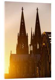 Tableau en verre acrylique  Sunset behind the Cologne Cathedral