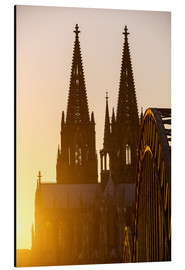 Alu-Dibond  Sunset behind the Cologne Cathedral
