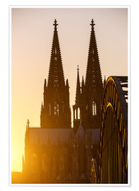 Poster  Sunset behind the Cologne Cathedral