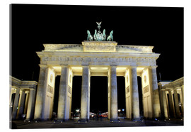 Tableau en verre acrylique  Brandenburg Gate in Berlin by night