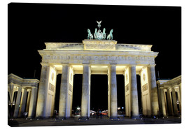 Tableau sur toile  Brandenburg Gate in Berlin by night